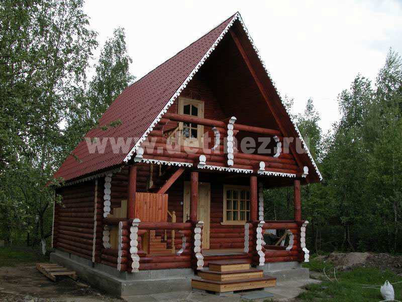 Дом из бревна 106 6х6м