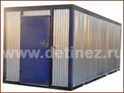 Блок-контейнер 6х2,5м металлическая дверь