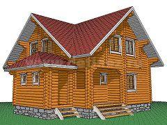 Фото 1386 - дом из бревна 7,5х10м