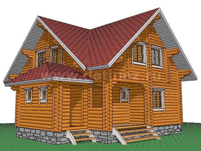 Дом из бревна 1385