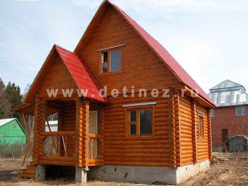Дома из оцилиндрованного бревна 5х6м