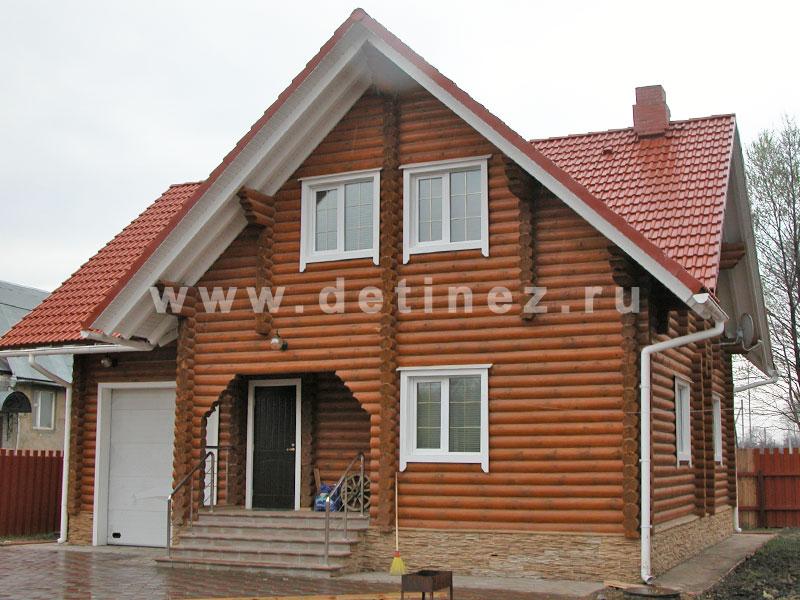 Дома из оцилиндрованного бревна 10х11м
