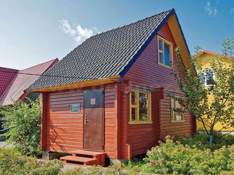Дом из профилированного бруса 428 4х6м