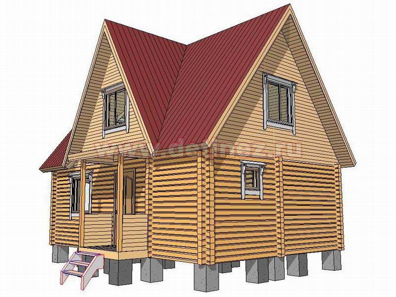 Дачный дом 1376 из бруса