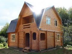 Фото 1507 - дом из бревна 8х9м