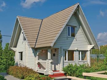 Дачный дом из бруса 359 6х9м