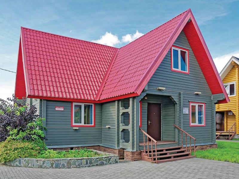 Дома из клееного бруса 6х12м