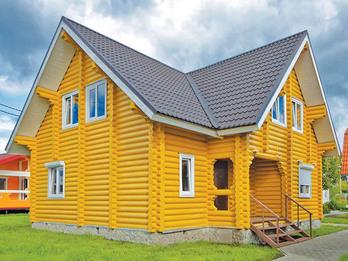 Дом 119 10х10м из оцилиндрованного бревна