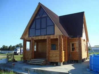 Дачный дом из бревна 1120