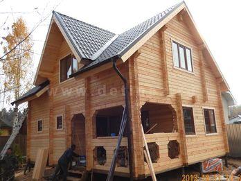 Дом-баня из бруса с мансардой 2388Д