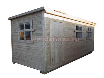 Бытовка деревянная 6х2,3м 3 окна