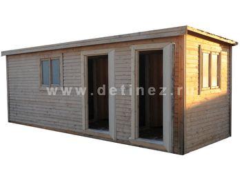 Бытовка деревянная дачная 6х2,3м 2 входа