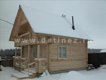 Дачный дом 40 из бревна