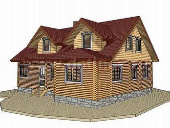 Дом из бруса 1387