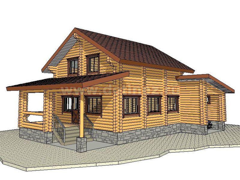 Дом из бревна 1384