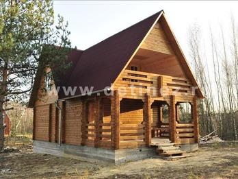 Дом из клееного бруса 143 7х9м