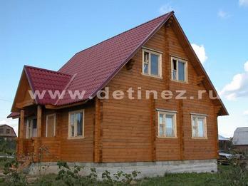 Дома из клееного бруса 144 8х8м