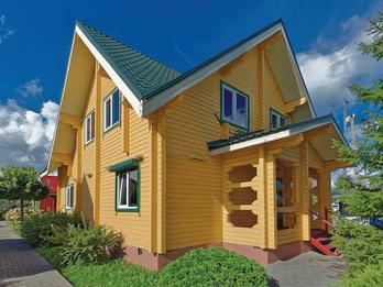 Дома из клееного бруса 145 8х9м
