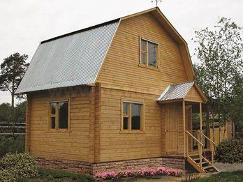 Дом из клееного бруса 134 4х6м