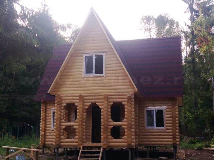 Дачный дом из бревна 1208