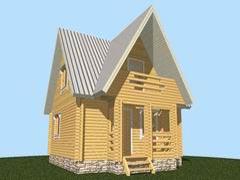 Фото 1374 - дачный дом 6х6 из бруса