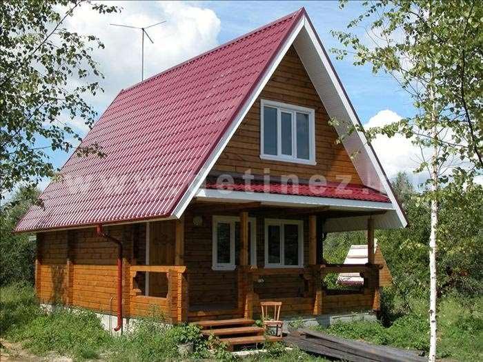 Деревянные дома из бруса 6х8м