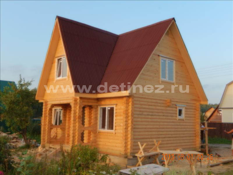 Дачный дом из бревна 1245