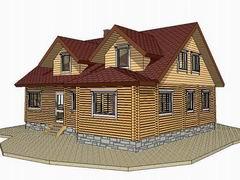 Фото 1342 - дом 12х14м из бревна