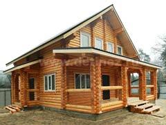 Фото 1393 - дом 8х9м из оцилиндрованного бревна