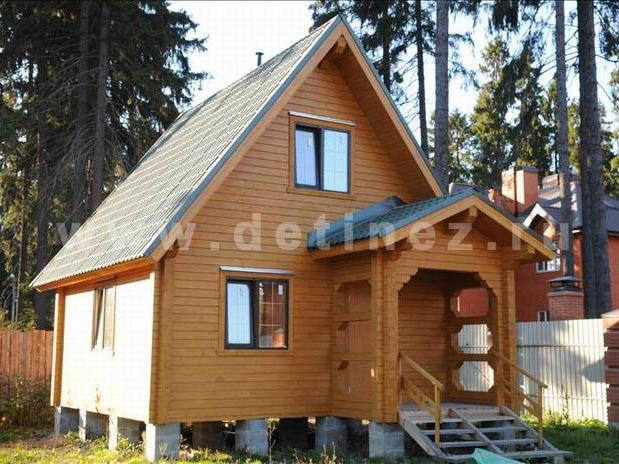 Дом из клееного бруса 136 5х6м