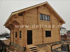 Фото 1060 - дом 9х9м из бревна