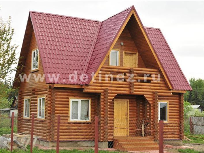 Дачный дом 1061 из бревна
