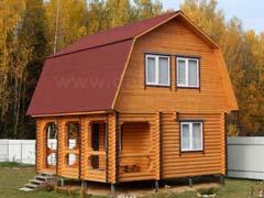 Фото 1463 - дачный дом из бревна 6х8м