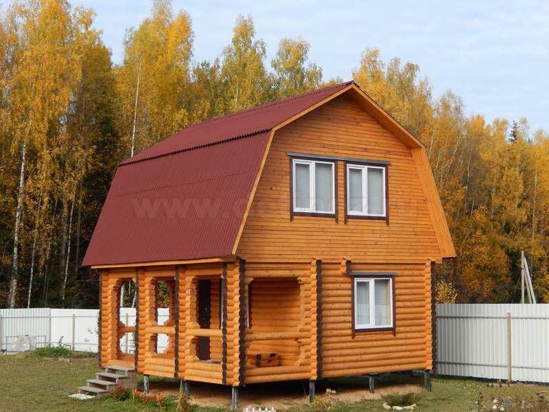 Дом из бревна 1463 6х7м