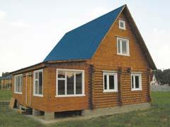 Фото 1466 - дачный дом из бревна 6х9м