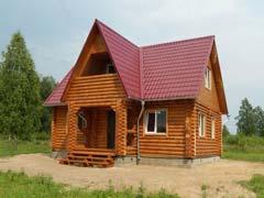 Фото 1468 - дачный дом из бревна 6х9м