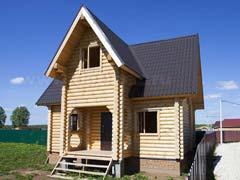 Фото 1472 - дачный дом из бревна 6х8м