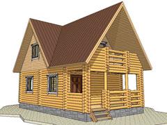 Фото 1360 - дом 6х10 из бревна
