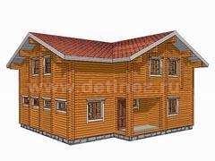 Фото 1341 - дом из бревна 10х11м