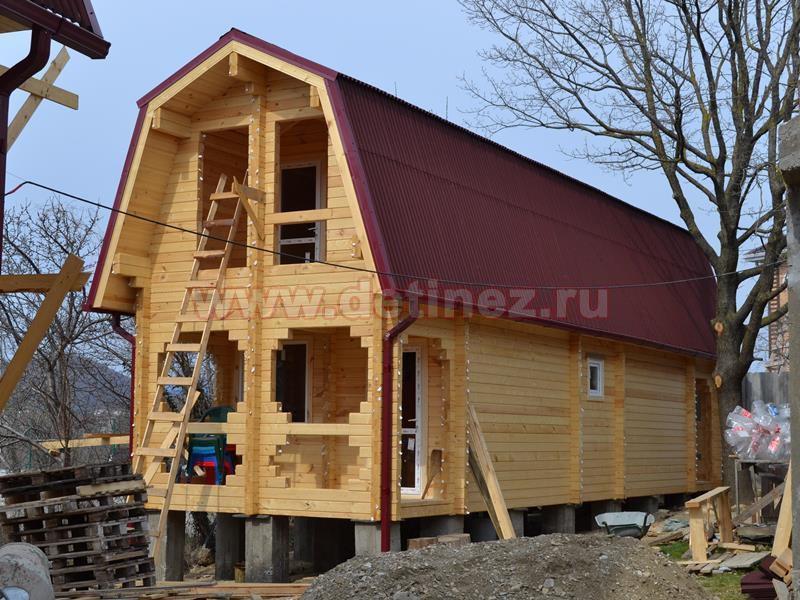 Дом-баня из бруса 1404