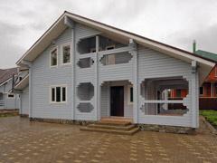 Фото 1408 - дом из бруса 11х11м, 226м²