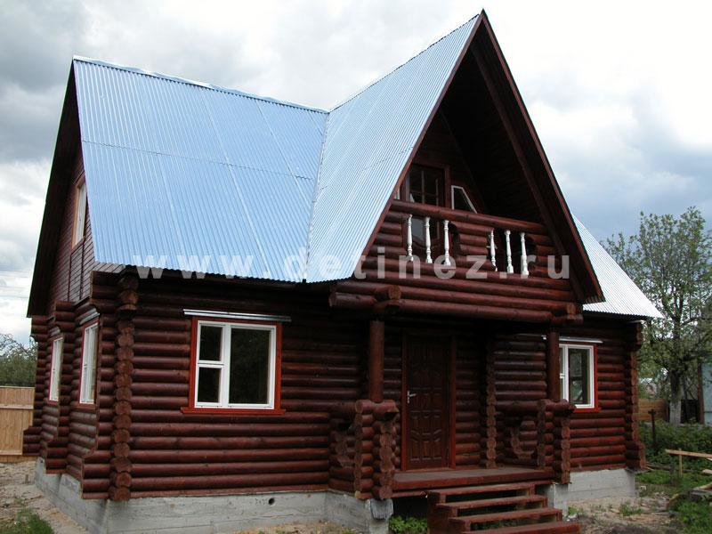Дачный дом из бревна 414